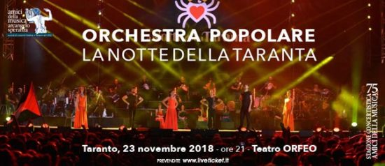 La Notte della Taranta al Teatro Orfeo di Taranto