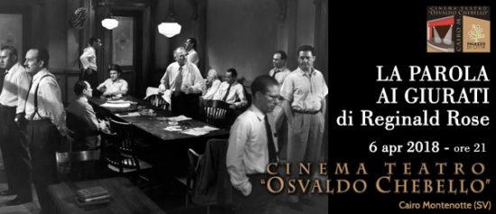 La parola ai giurati al Teatro O. Chebello di Cairo Montenotte