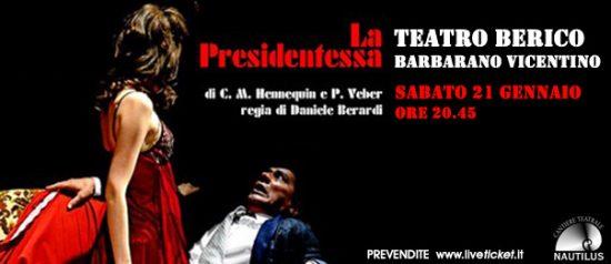 La presidentessa al Teatro Berico a Barbarano Vicentino