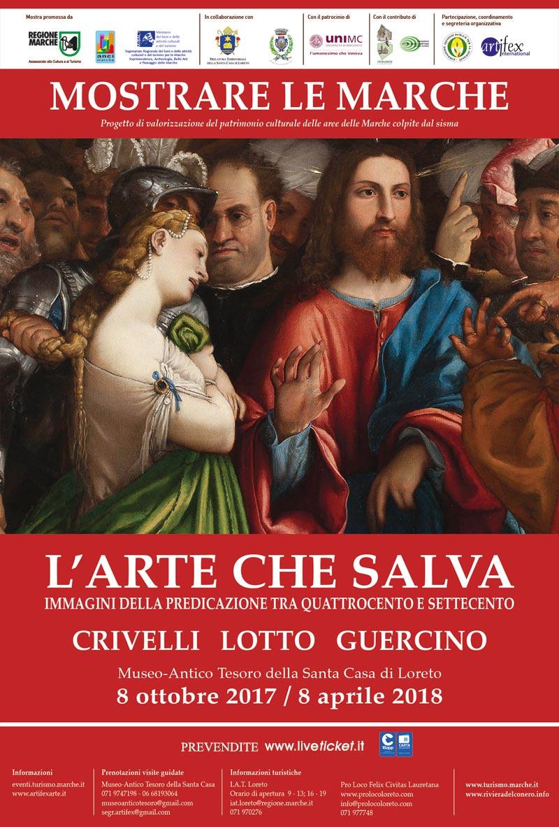 """Mostrare le Marche """"L'arte che salva. Immagini della predicazione tra Quattrocento e Settecento."""" Crivelli - Lotto - Guercino"""