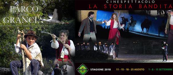 La storia bandita Cinespettacolo - Parco della Grancia 2018 a Brindisi Montagna