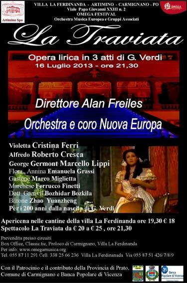 La Traviata di Giuseppe Verdi ad Artimino Carmignano