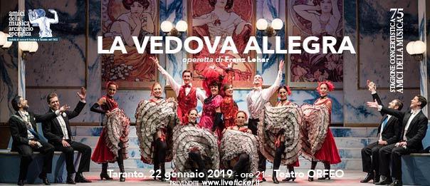 La Vedova Allegra al Teatro Orfeo di Taranto