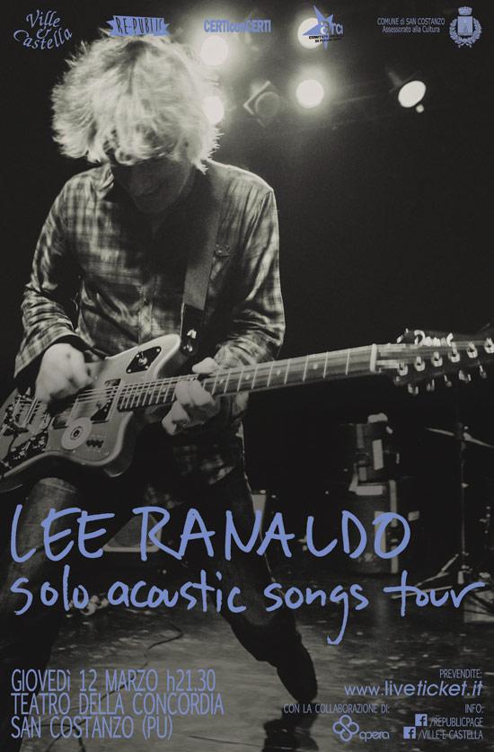 Lee Ranaldo solo acoustic song tour