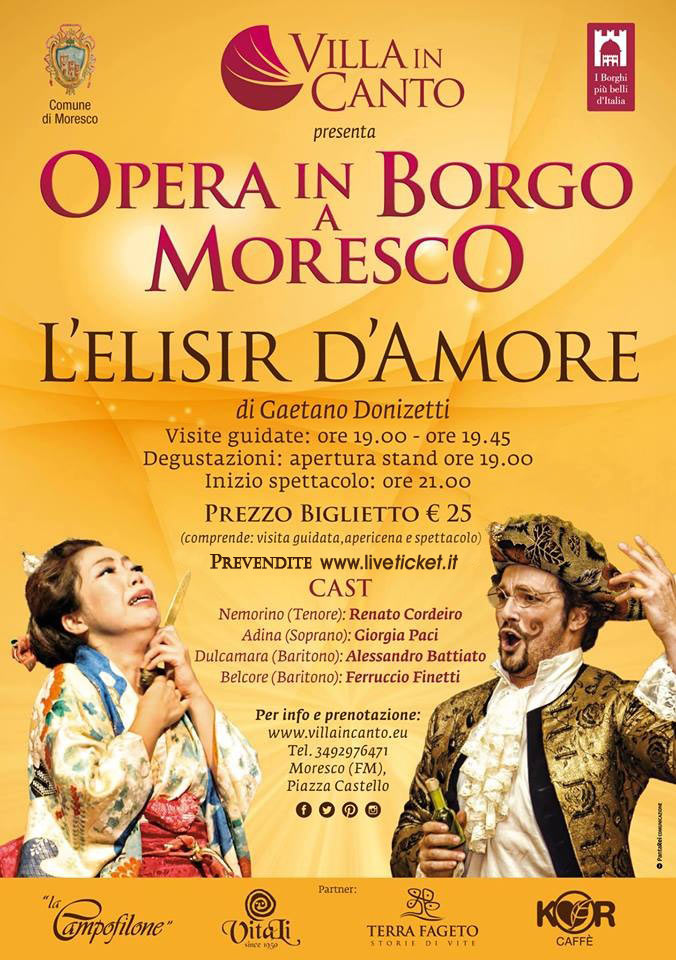 L'Elisir d'Amore all'Opera in Borgo a Moresco