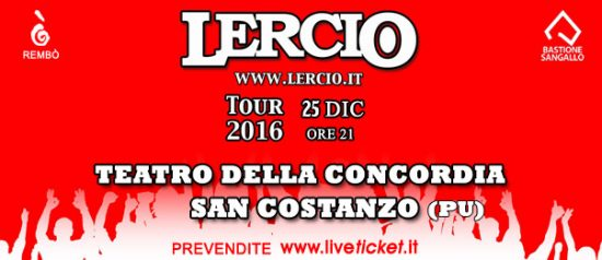 """""""Lercio live"""" a Natale al Teatro Della Concordia di San Costanzo"""