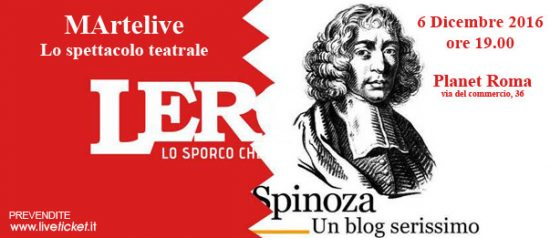 """Lercio vs Spinoza"" MArtelive 2016 al Planet Live Club Roma"