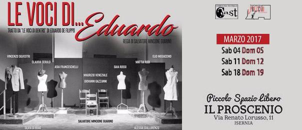 Le voci di...Eduardo al Piccolo Spazio Libero - Il Proscenio di Isernia