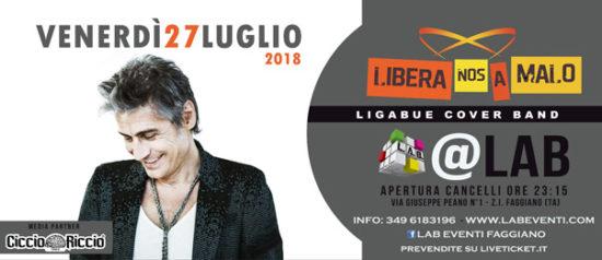 Libera Nos A Malo - Ligabue Tribute Band a LAB Eventi a Faggiano