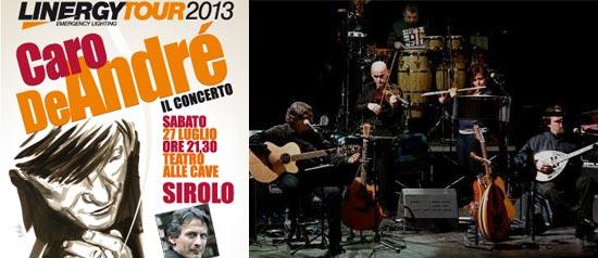Concerto CaroDeAndré, Linergy-tour, al Teatro Le Cave a Sirolo