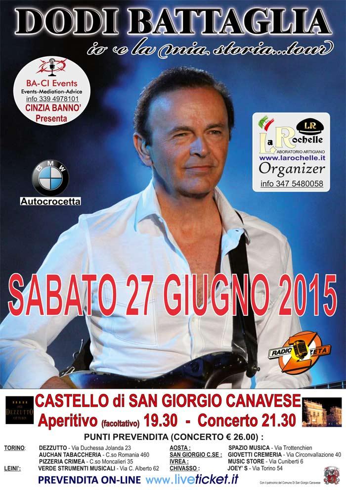 Dodi Battaglia al Castello di San Giorgio Canavese (TO)