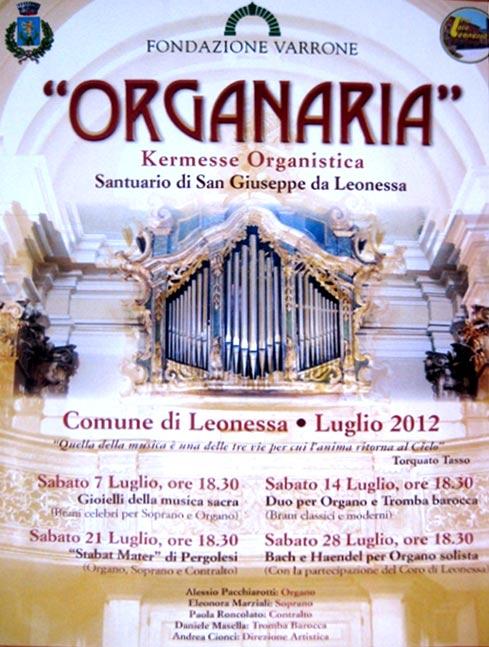 Organaria al Santuario di San Giuseppe da Leonessa