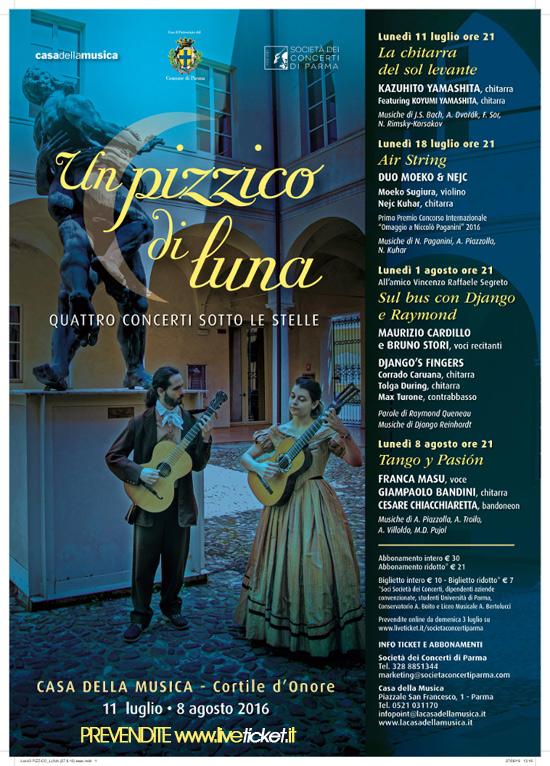 Un pizzico di luna alla Casa della Musica a Parma