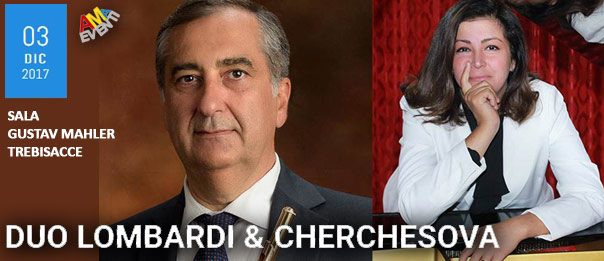 Duo Lombardi - Cherchesova alla Sala Gustav Mahler di Trebisacce