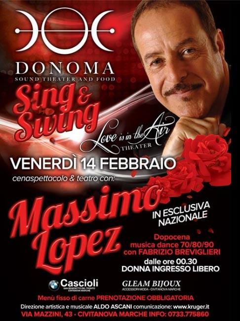 Massimo Lopez al Donoma di Civitanova Marche