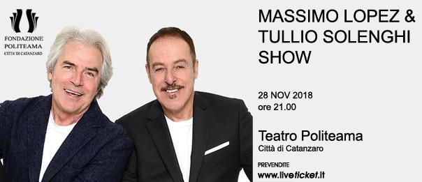 Massimo Lopez & Tullio Solenghi Show al Teatro Politeama di Catanzaro