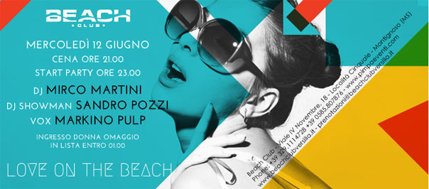 """Love on the beach"" Beach Club Versilia"