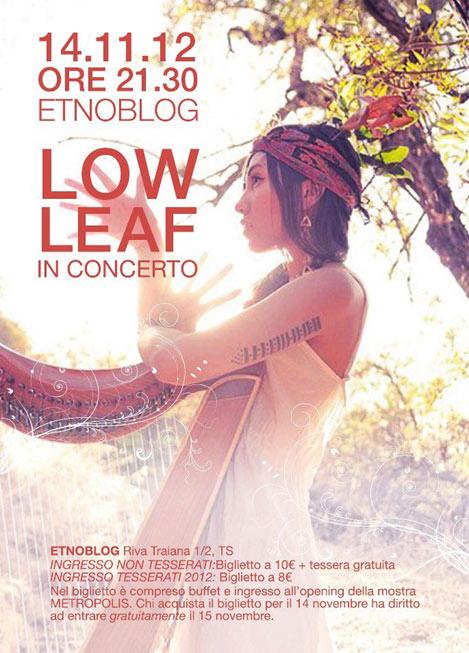 Low Leaf in concerto, Metropolisart, Etnoblog, Trieste