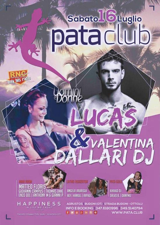 Lucas Peracchi e Valentina Dallari al Pata Club di Budoni
