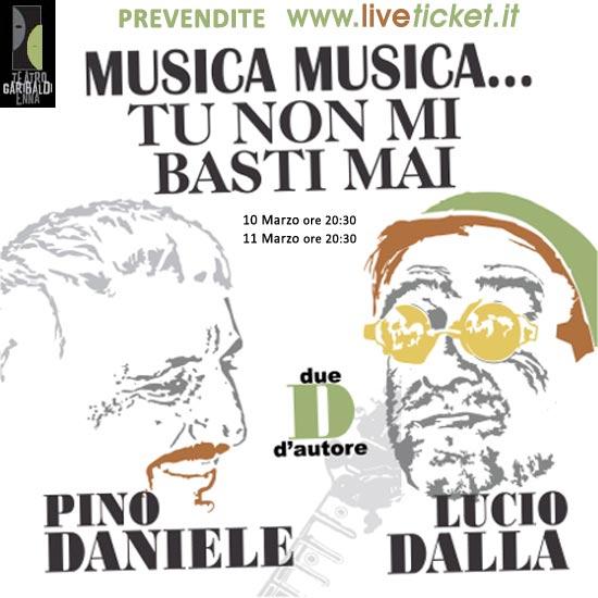 """Pino Daniele e Lucio Dalla in Due """"D"""" D'Autore al Teatro Garibaldi di Enna"""