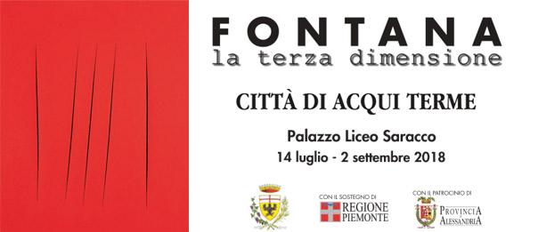 """Lucio Fontana """"La terza dimensione"""" al Palazzo Liceo Saracco ad Acqui Terme"""