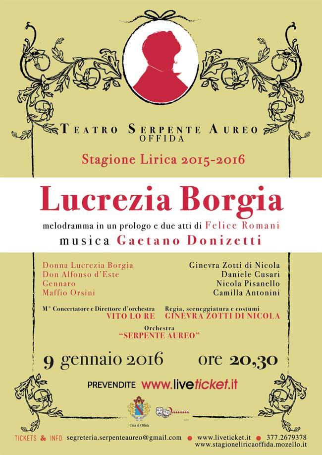 Lucrezia Borgia al Teatro Serpente Aureo di Offida