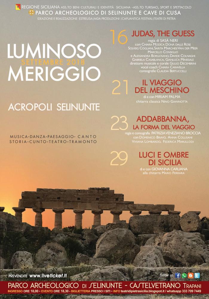 Luminoso Meriggio 2018 al Parco Archeologico di Selinunte a Castelvetrano