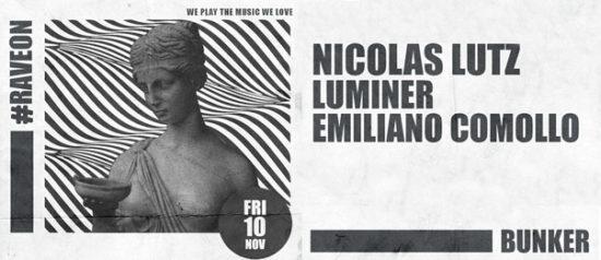Nicolas Lutz, Luminér e Emiliano Comollo al Bunker di Torino
