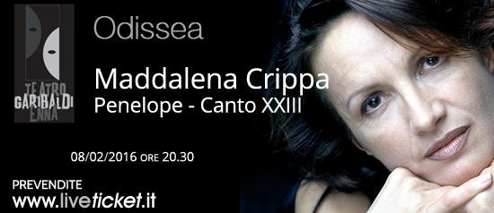 "Maddalena Crippa ""Penelope - Canto XXIII"" al Teatro Garibaldi di Enna"