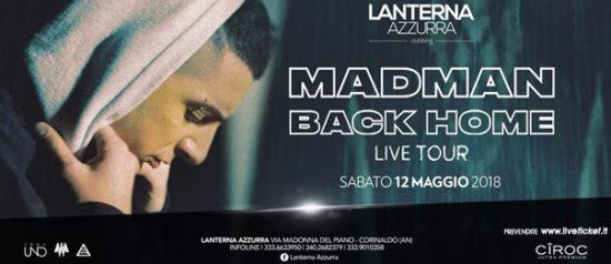 """Madman """"Back home"""" tour alla Lanterna Azzurra di Corinaldo"""