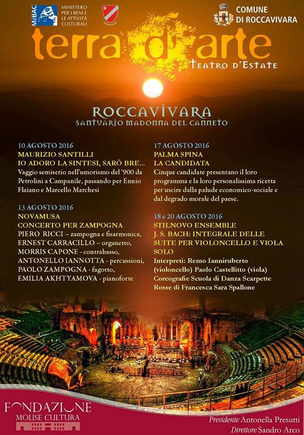 Terra d'Arte estate 2016 al Santuario Madonna del Canneto