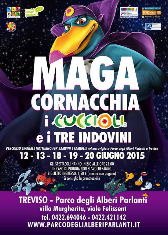 """""""Maga Cornacchia i Cuccioli e i tre indovini"""" al Parco degli Alberi Parlanti a Treviso"""