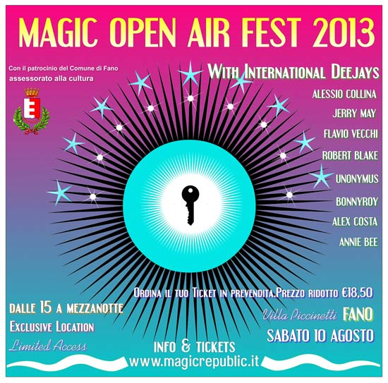 Magic Open Air Fest a Villa Piccinetti a Fano