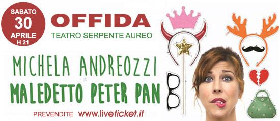 """Michela Andreozzi """"Maledetto Peter Pan"""" al Teatro Serpente Aureo di Offida"""