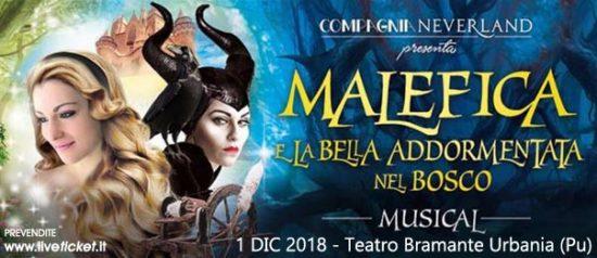 Malefica e la bella addormentata nel bosco al Teatro Bramante di Urbania