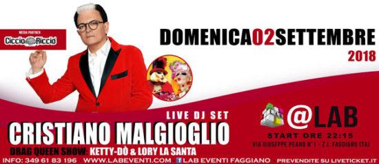 Cristiano Malgioglio Live DJ set a LAB Eventi a Faggiano