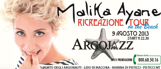 Malika Ayane in concerto a Marina di Pisticci