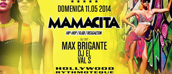 Max Brigante Mamacita party all'Hollywood di Milano