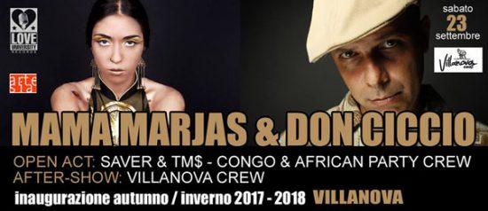 Inaugurazione autunno/inverno: Mama Marjas & Don Ciccio al Villanova di Pulsano