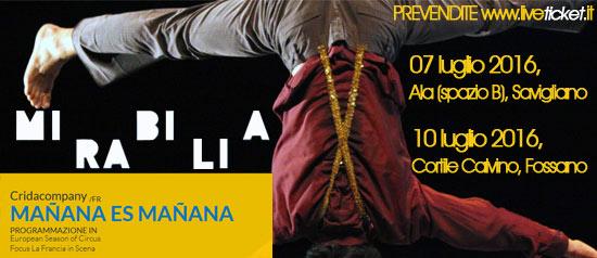 """Cridacompany """"Mañana es Mañana"""" al Mirabilia Festival 2016"""