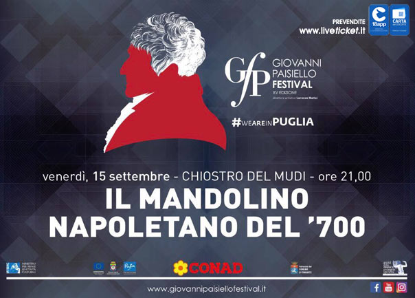 """""""Il mandolino napoletano del 700"""" Giovanni Paisiello Festival al Museo Diocesano a Taranto"""