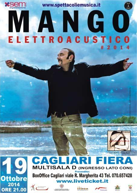 Elettroacustico Tour #2014 Mango in concerto a Cagliari