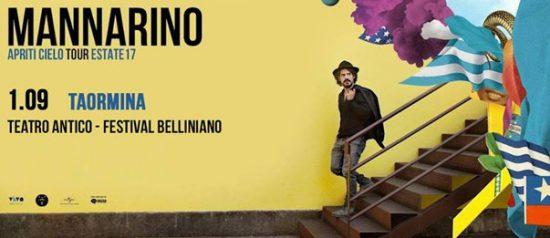 "Mannarino ""Apriti Cielo Tour"" estate 2017 al Teatro Antico di Taormina"