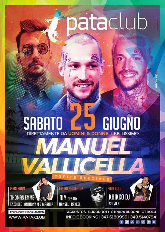 Manuel Vallicella al Pata Club a Budoni