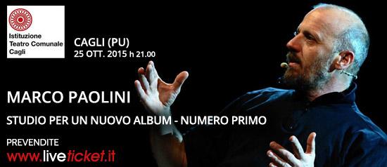"""Marco Paolini """"Studio per un nuovo Album - Numero Primo"""" al Teatro di Cagli"""