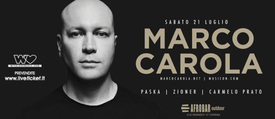 With Love presents: Marco Carola all'Afrobar di Catania