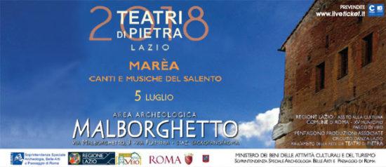 Marea - Canti e musiche del Salento all'Area Archeologica Malborghetto a Roma