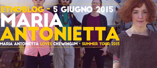 Maria Antonietta live all'Etnoblog di Trieste