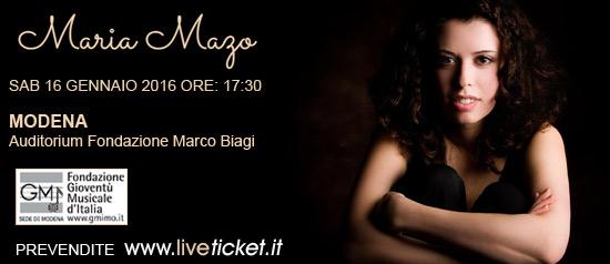 Maria Mazo all'Auditorium Marco Biagi di Modena