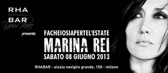 Marina Rei in concerto@Rhabar al Naviglio Grande, Milano